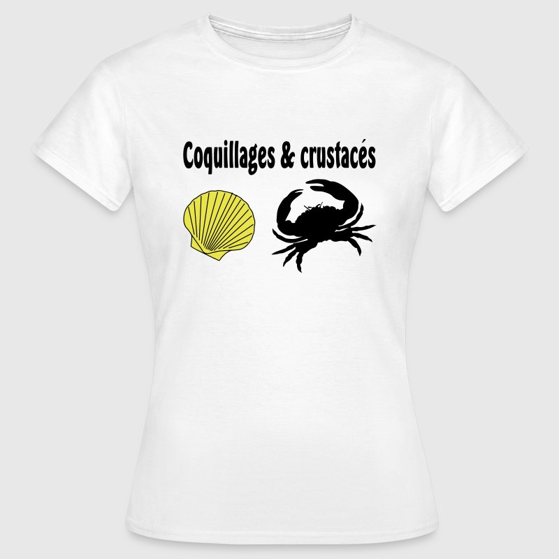 coquillages crustaces - T-shirt Femme