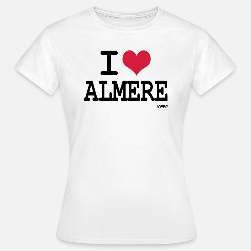 I Love T-Shirts - i love almere by wam - Vrouwen T-shirt wit