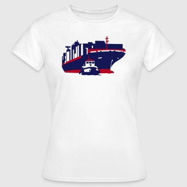 container ship - Dame-T-shirt