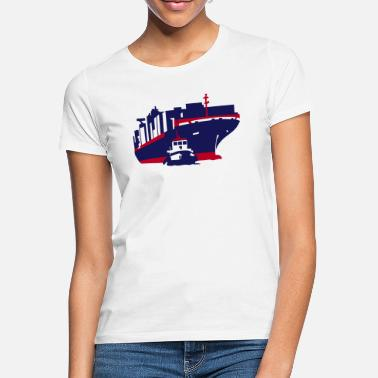 Container container ship - Vrouwen T-shirt