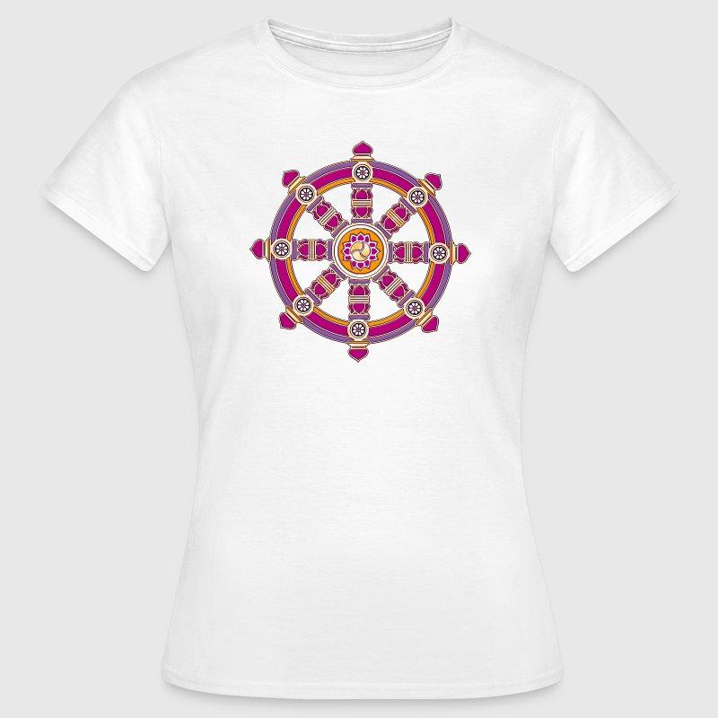 Dharmachakra Darma Wheel Of Law Buddhist Symbol T Shirts Van Yuma