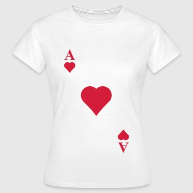 Ace Of Hearts Cards - Women's T-Shirt