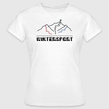 Wintersport - Skipiste - Frauen T-Shirt