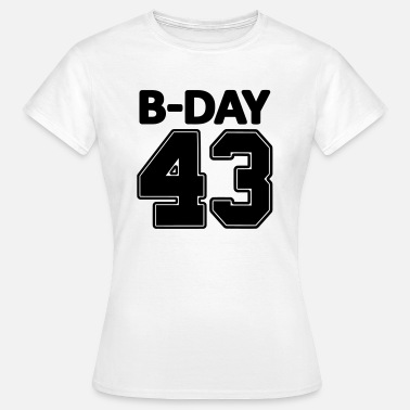 Number 43 Number 43 / 43rd birthday bday number number - Women's T-Shirt