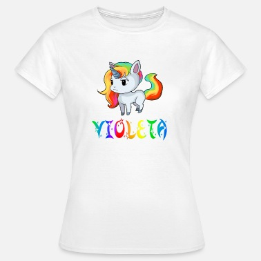 Violeta Unicorn Violeta - Women's T-Shirt
