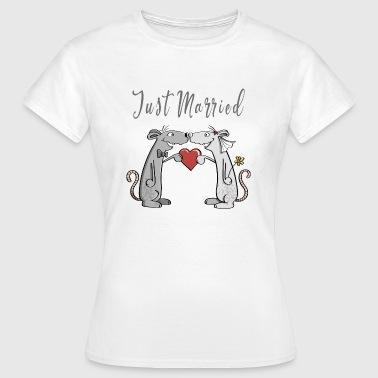 Pair Of Newlyweds Just Married - Wedding - Newlyweds - Love - Fun - Women's T-Shirt