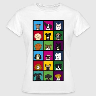18 x dogs head colourful - Women's T-Shirt