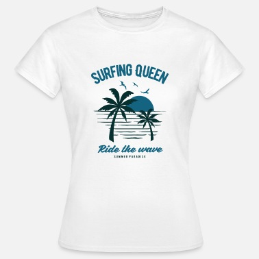 Surfergirl Die Surfing-Queen - Frauen T-Shirt