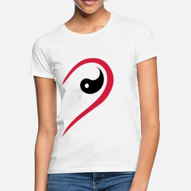 Yin Yang Marriage Half heart, partner, Yin Yang, marriage, love team - Women's T-Shirt