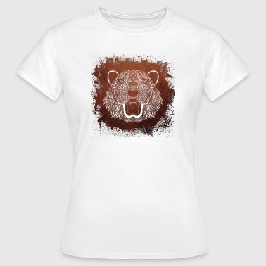 White Tiger - Animal Mandala - Women's T-Shirt