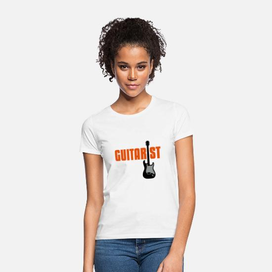 Bass Guitar T-Shirts - guitarist - Women's T-Shirt white