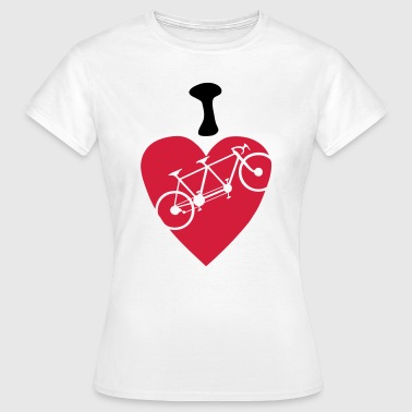 i love tandem velo bicyclette 2 coeur he - T-shirt Femme