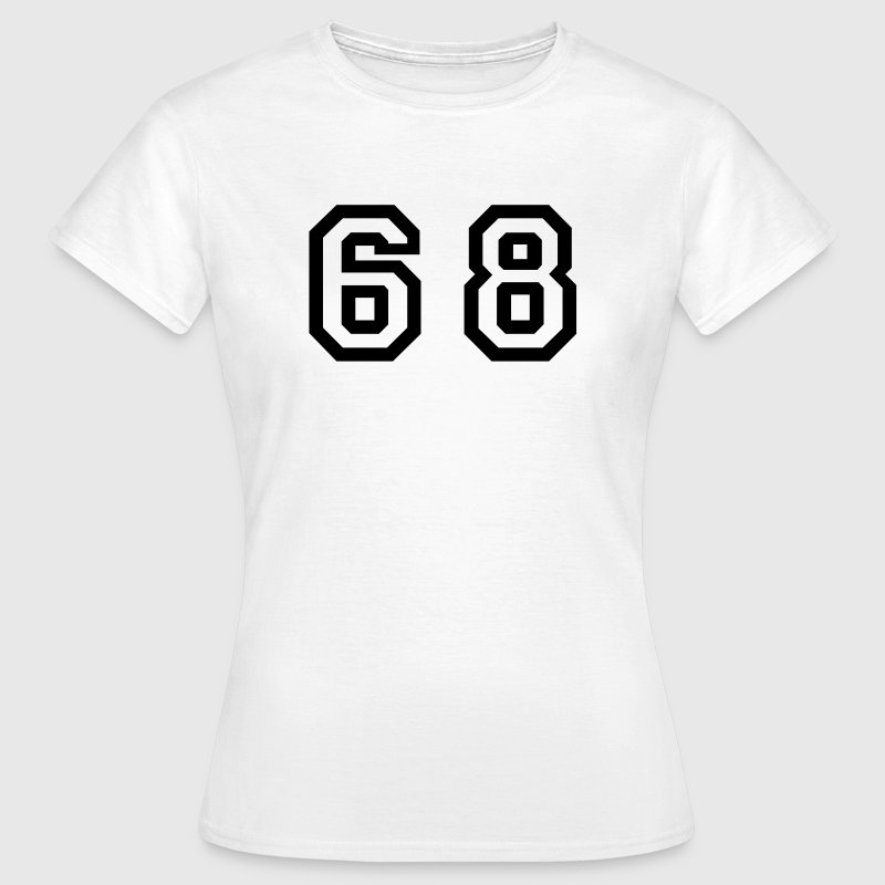 Number - 68 - Sixty Eight - Camiseta mujer