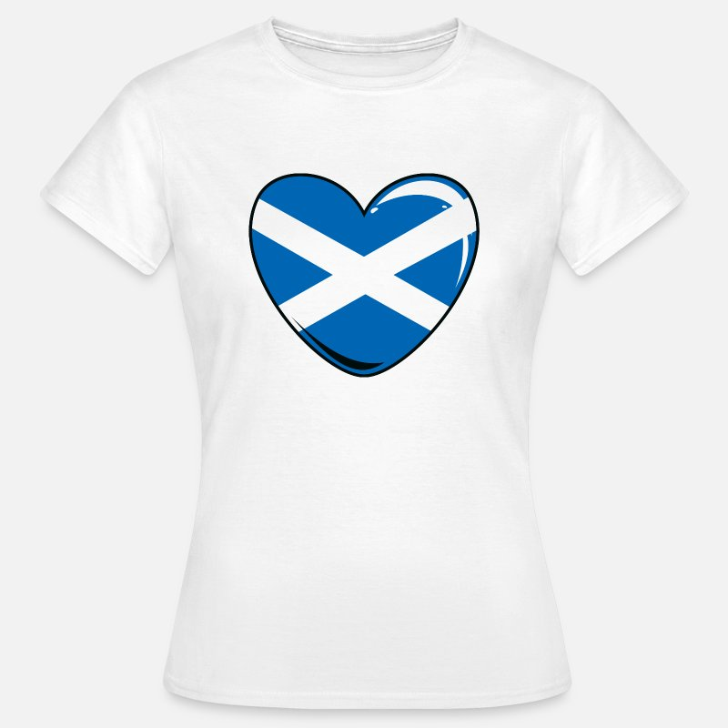 Scottish T-Shirts - Scotland Heart - Women's T-Shirt white