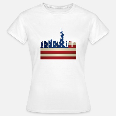 Stars And Stripes USA Flagge Sternenbanner New York Reise Geschenk - Frauen T-Shirt