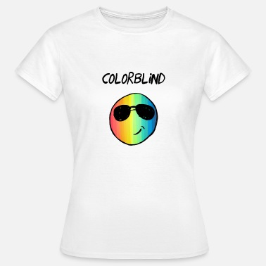 Farbenblind Colorblind Rainbow Smiley Face - Frauen T-Shirt