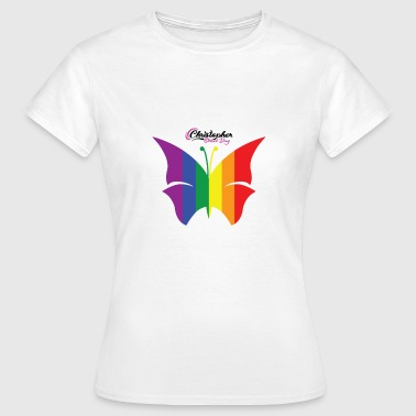 Christopher Street Day LGBT Butterfly Christopher Street Day - T-shirt dam