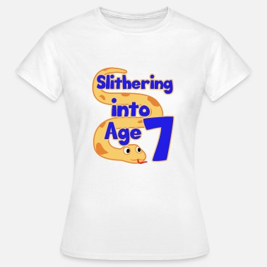 Seven Birthday Snake 7th Birthday Party Seven Boa Herpetologist Gift - Women's T-Shirt