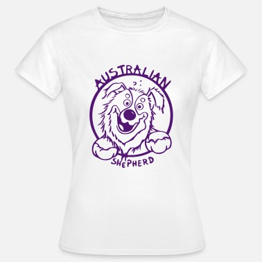 Australian Shepherd Cartoon Funny Australian Shepherd - Women's T-Shirt