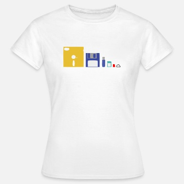 Storage Media Evolution of storage - Women's T-Shirt