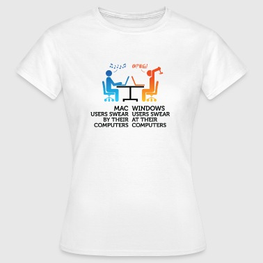 Mac users swear by their computers - Women's T-Shirt