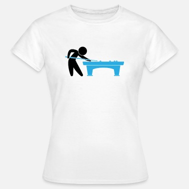 Pool Player A pool player is on the pool table - Women's T-Shirt