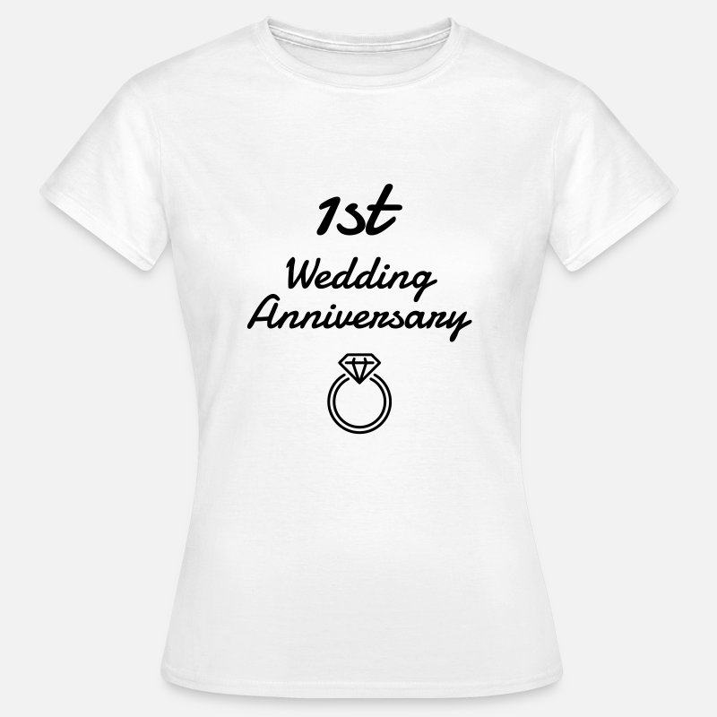 Wedding T-shirts - 1 - Birthday Wedding - Marriage - Love - Wife - T-shirt Femme blanc