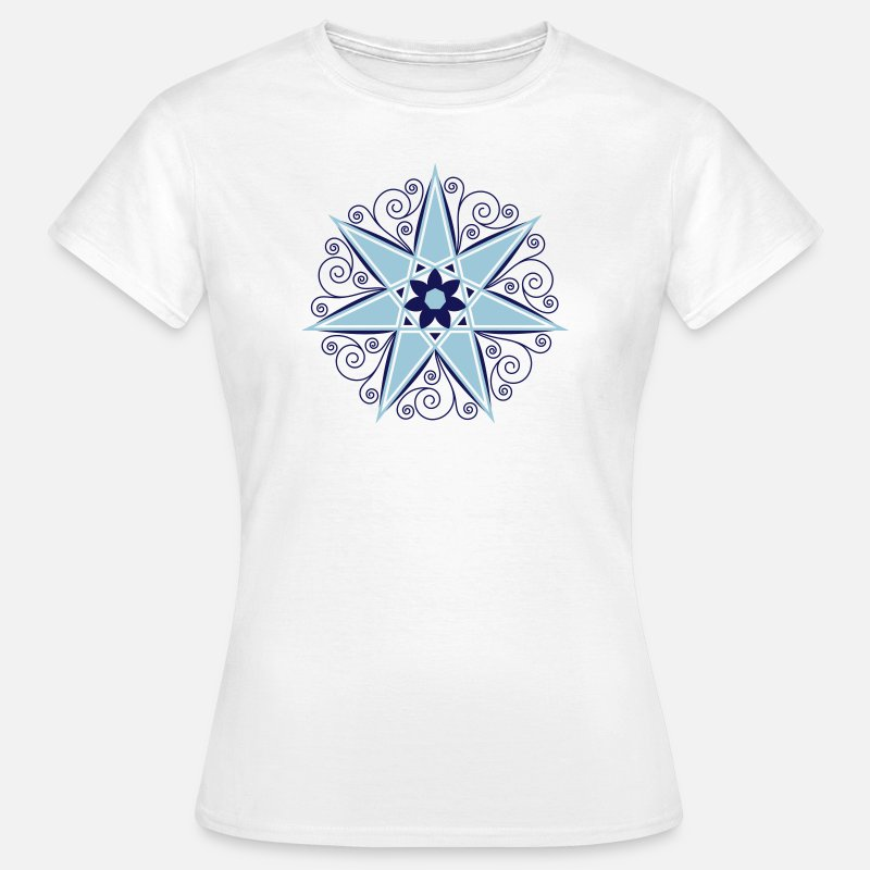 Elf T-Shirts - Elven Star, Heptagram, Fairy Star, Pagan, Wicca - Women's T-Shirt white