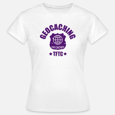 Night Cache geocaching - 250 caches - TFTC / 1 color - Women's T-Shirt