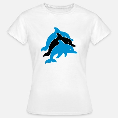 Dolphin Säugetier Dolphins Illustration - Frauen T-Shirt