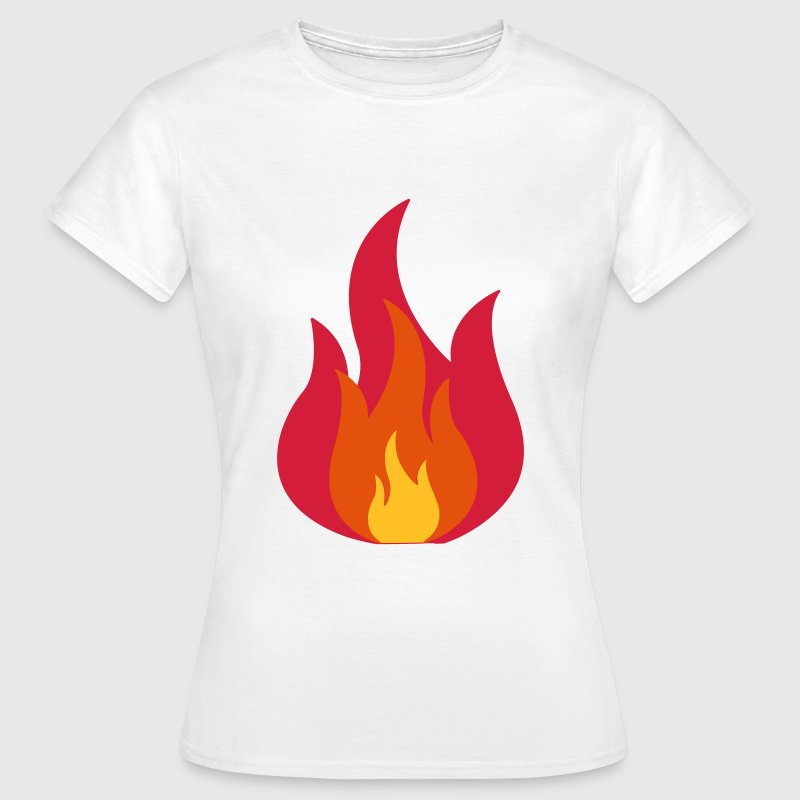 Feuer, Flammen, Fire, Flames  - Camiseta mujer