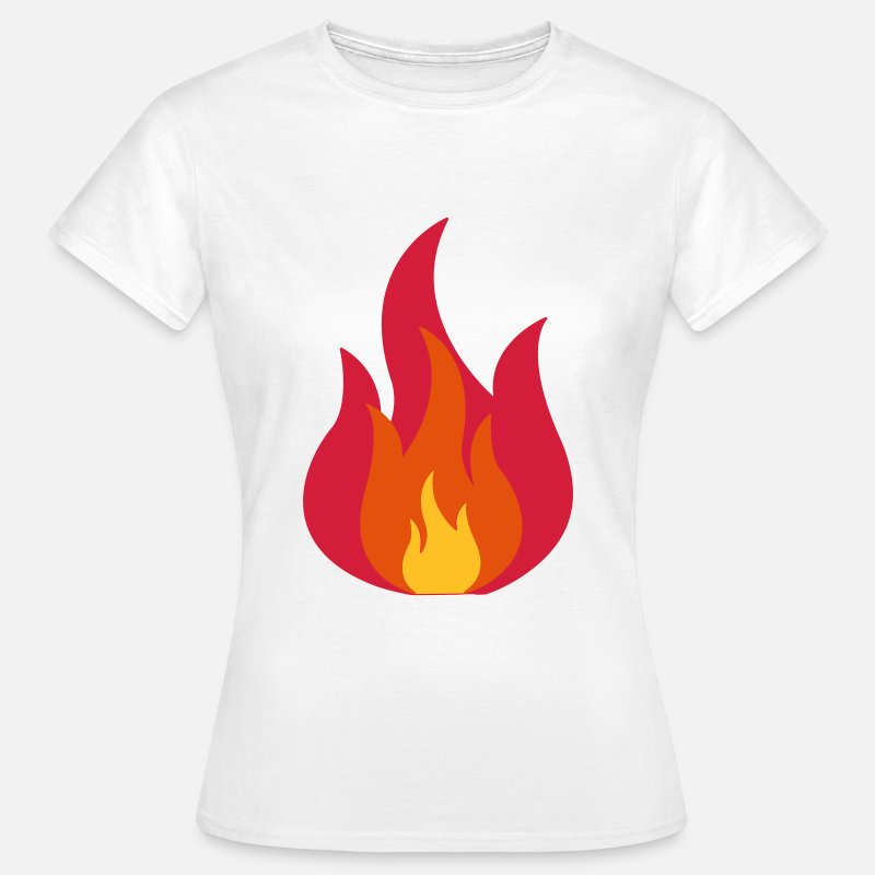 Blaze T-Shirts - Feuer, Flammen, Fire, Flames  - Women's T-Shirt white