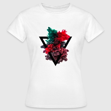 Triangle Color and water - Women's T-Shirt