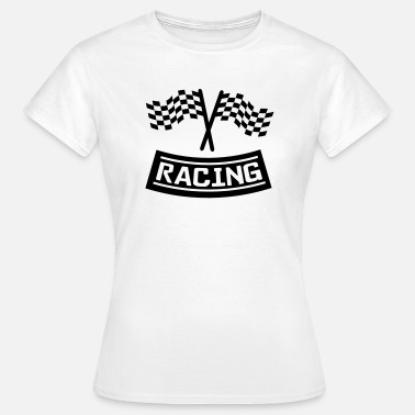 Flagge Racing racing - Frauen T-Shirt