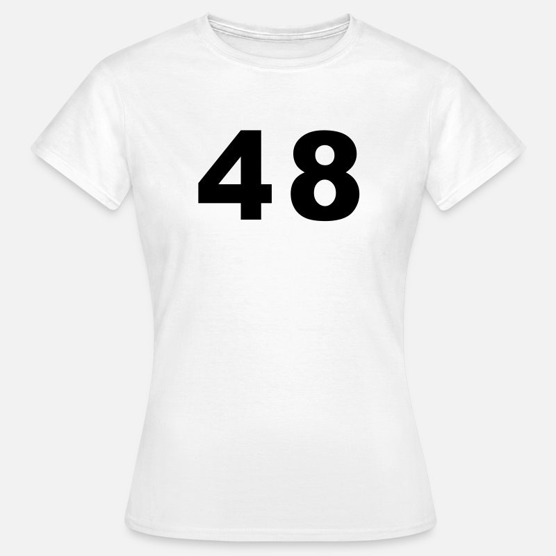 48 T-Shirts - Number - 48 – Forty Eight - Women's T-Shirt white