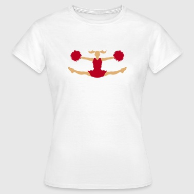 Acrobatics A cheerleader with pom poms - Women's T-Shirt