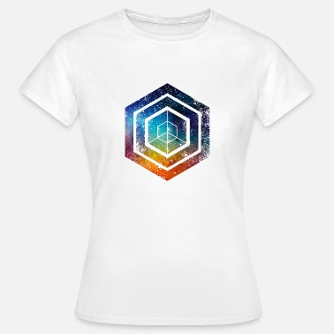 Hexagon Hexagon · Shapes · Signs · Symbols · Grunge - Women's T-Shirt