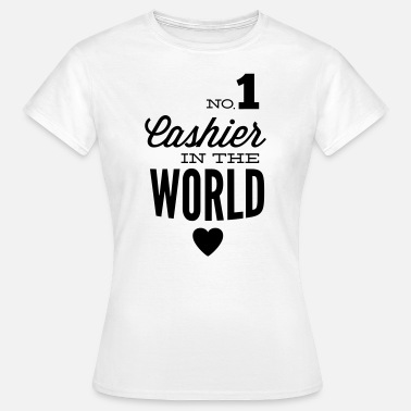Checkout Best cashier of the world - T-shirt Femme