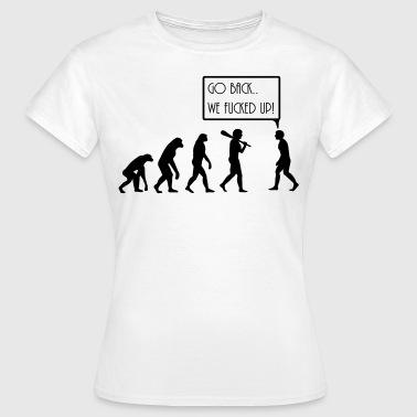 Darwin evolution - Dame-T-shirt