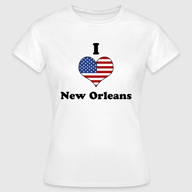 I love New Orleans - Vrouwen T-shirt