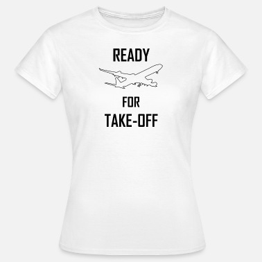Take Off Plane Plane pilot airport take-off gift idea - Women's T-Shirt