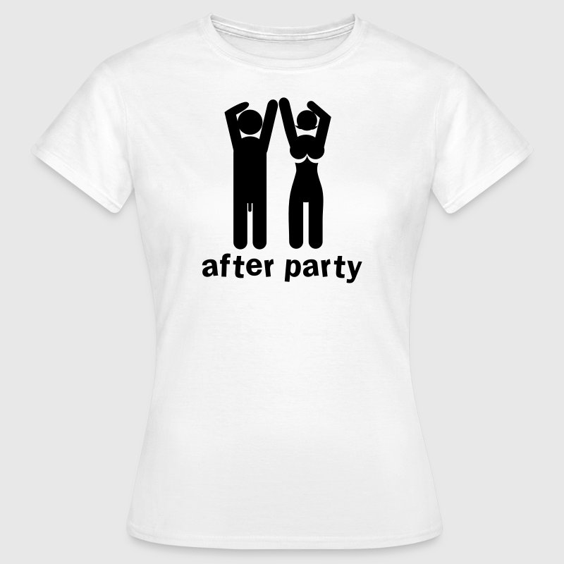after party naked man and woman with willy and boobs - Women's T-Shirt