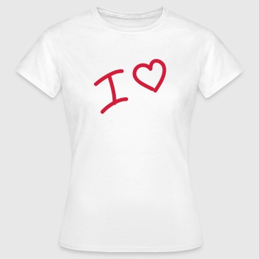 I heart - I love - Heart - Women's T-Shirt