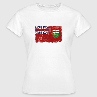 Ontario Flag - Canada - Vintage Look - Vrouwen T-shirt