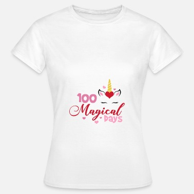 School 100 magical days of school gift school unicorn - Women's T-Shirt
