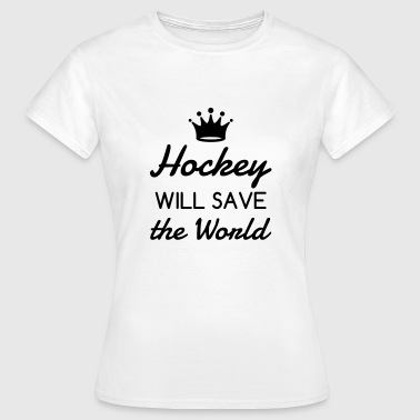 Hockey - Cross - Eishockey - Skater - Ice Hockey - Vrouwen T-shirt