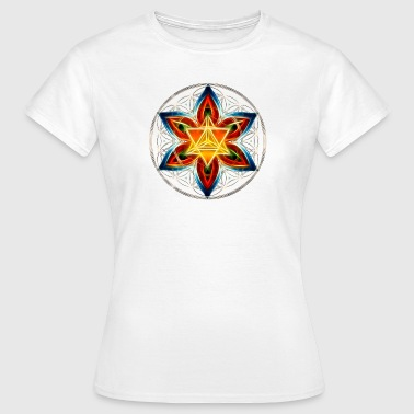 Specific Age Merkaba, Flower of Life, Sacred Geometry - Women's T-Shirt
