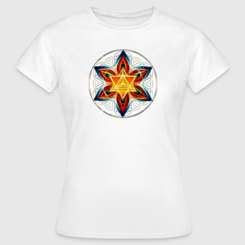 Merkaba, Flower of Life, Sacred Geometry - Women's T-Shirt