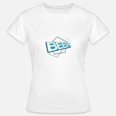 3D beer logo BLUE - Women's T-Shirt