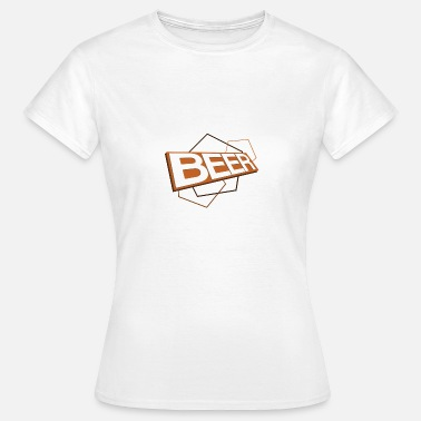 3D beer logo ORANGE - Women's T-Shirt